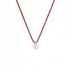 Collier Diamant et Eau Douce