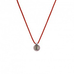 Collier Lien Nylon Diamant et Tahiti