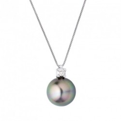 Collier Diamant et Tahiti